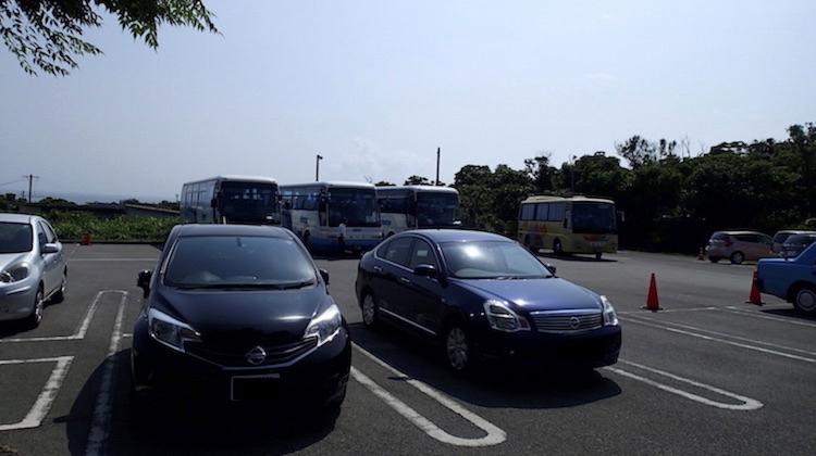 石垣島鍾乳洞の駐車場