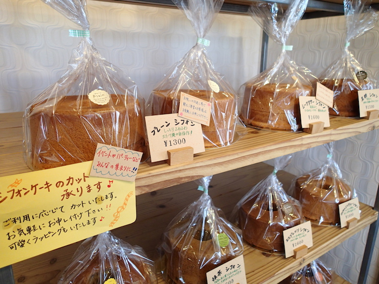 石垣島の琉球スイーツ庵のシフォン