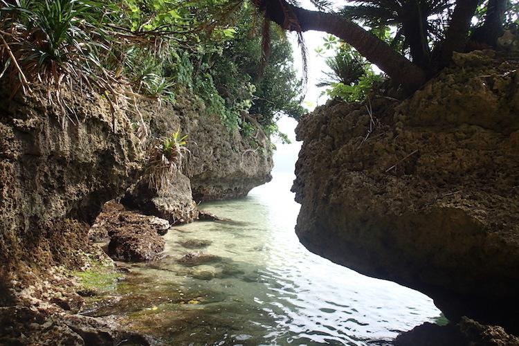 石垣島の伊原間サビチ洞の海とジャングル