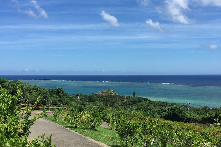 石垣島「玉取展望台」の歩道