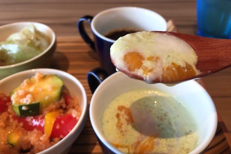ブルーカフェ石垣島のゴーヤの冷製茶碗蒸し