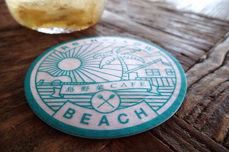 島野菜カフェ:リハロウビーチのコースター