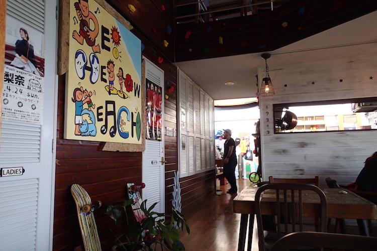 島野菜カフェ:リハロウビーチの店内