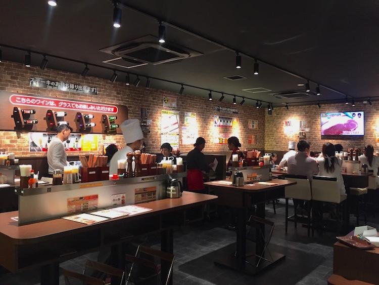 いきなりステーキ石垣島の立ち食いコーナー