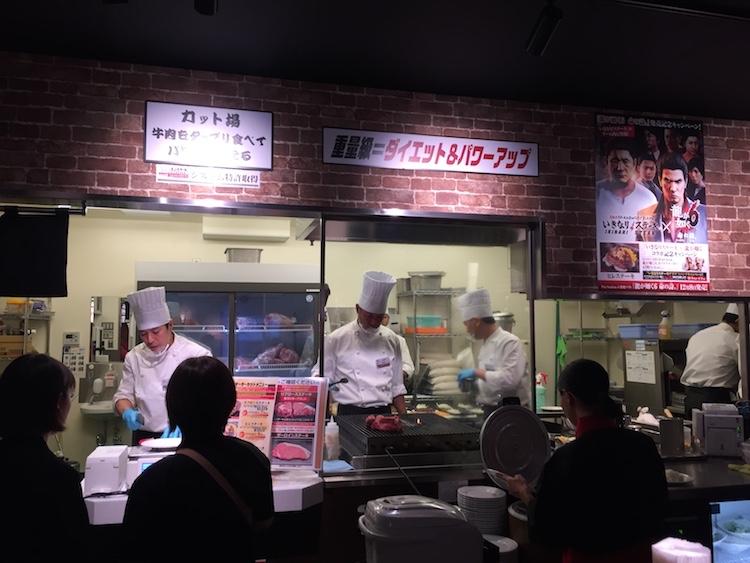 いきなりステーキ石垣島の厨房