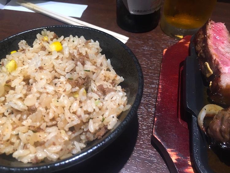 いきなりステーキ石垣島のガーリックライス