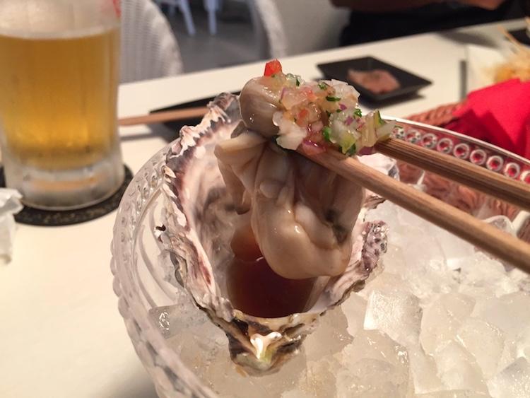 石垣島てっぺんグループNo4の生牡蠣