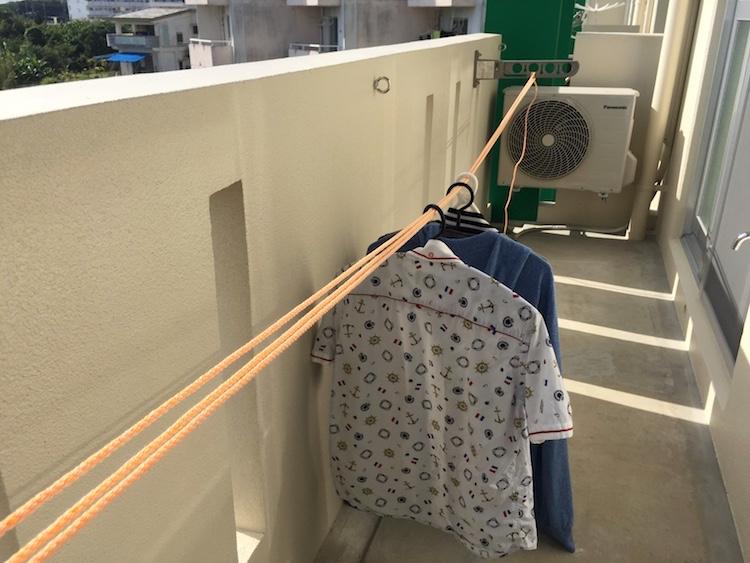 石垣島 洗濯ロープ弛み
