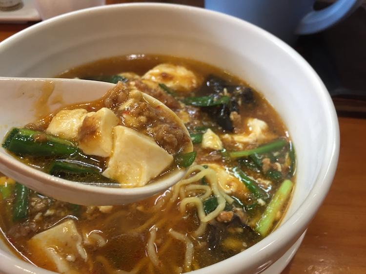 花舞空(かむあ)のマーボー麺の豆腐