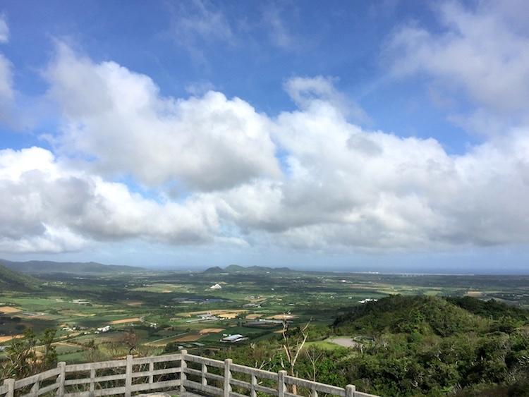 南の島の展望台からの景色