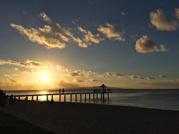 フサキビーチの夕日