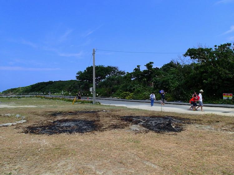 鳩間島の港周辺