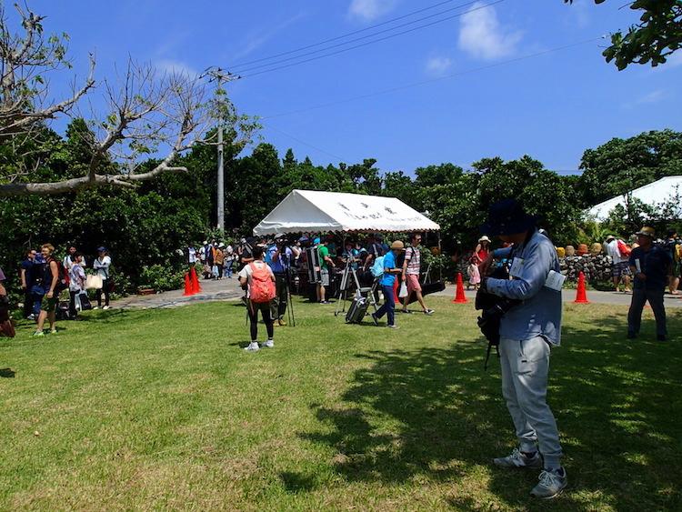 鳩間島の広場