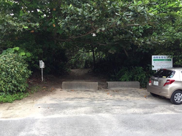 明石海岸の駐車場