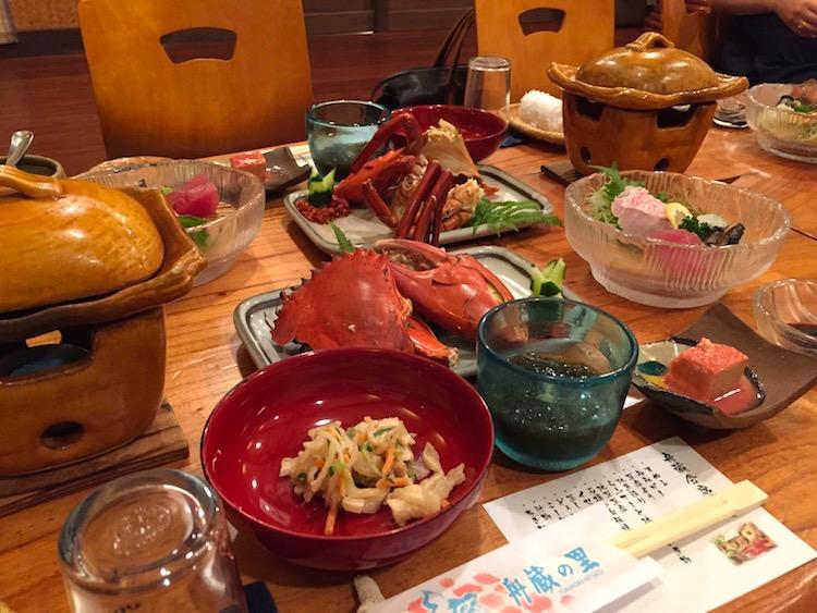 舟蔵の里の会席料理