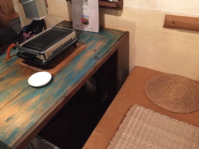 オリジンのテーブル席