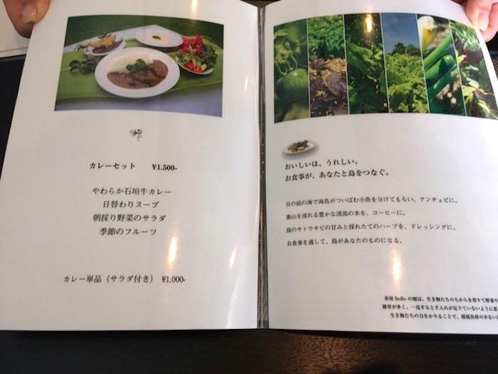 石垣島の草ぼうぼうのランチメニュー2