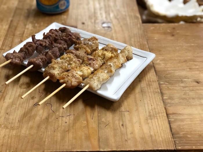 東串の焼き鶏