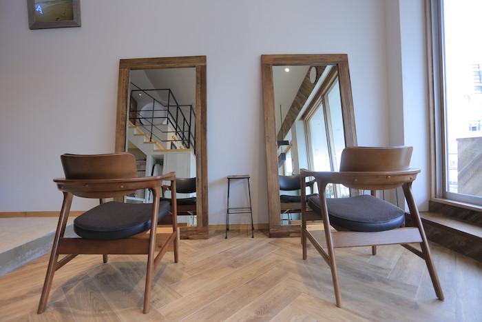 石垣島の美容室U+ luve heart's And Beの施術椅子