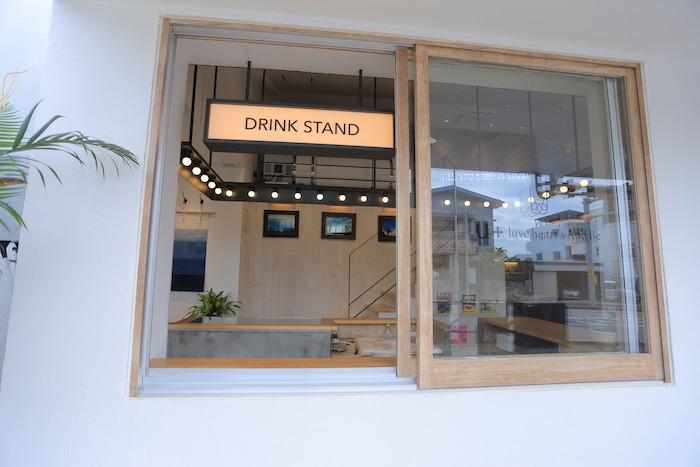 石垣島の美容室U+ luve heart's And Beのスタンドカフェ
