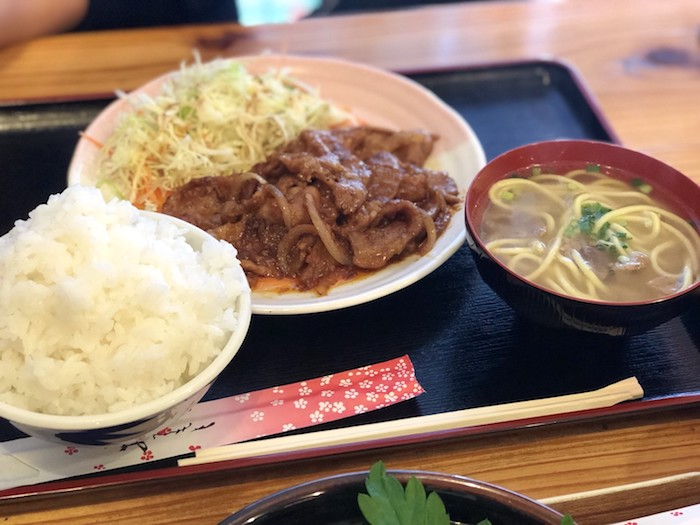 石垣島あらかわ食堂の豚みそ炒め