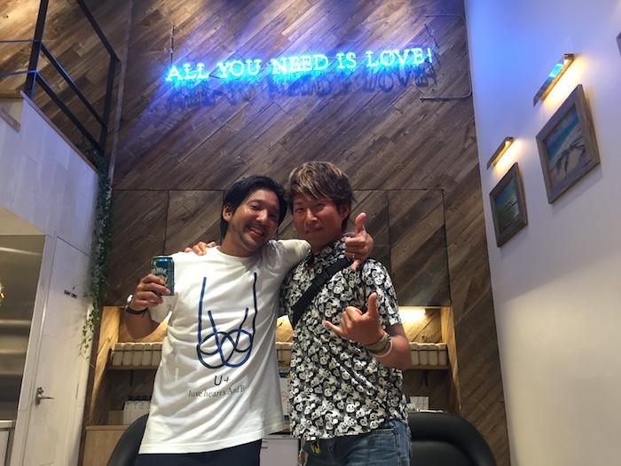 石垣島の美容室U+ luve heart's And Beのレセプションパーティ