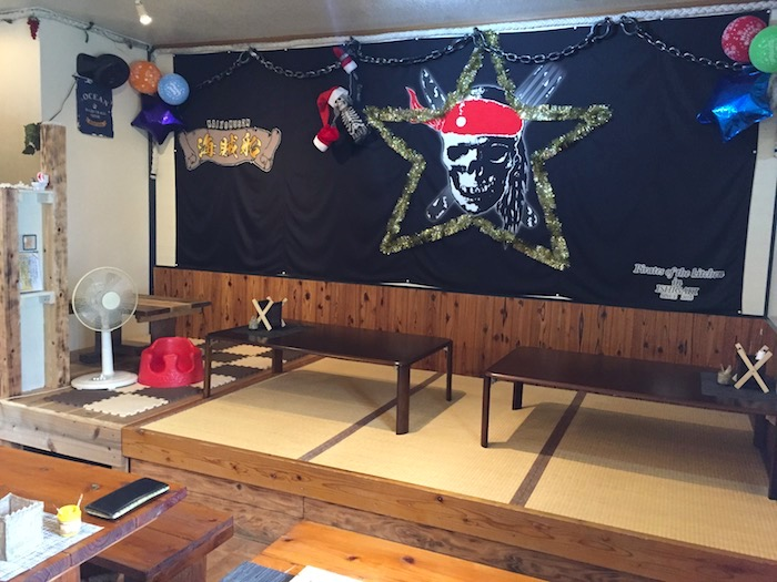 石垣島の海賊船のお座敷