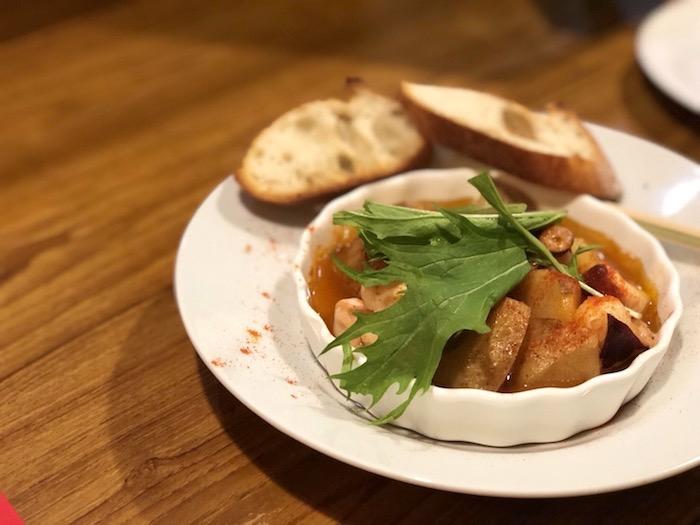 石垣島ボンテーブルのタコとジャガイモのガリシア