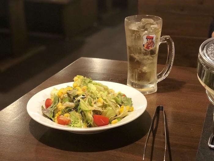 美崎牛本店のサラダ