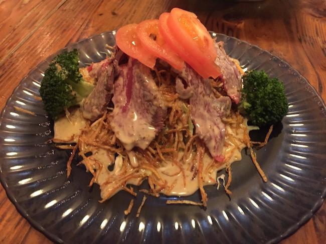 石垣島の錦のサラダ