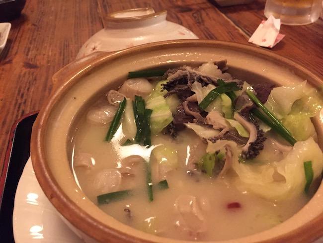 石垣島の錦のもつ鍋