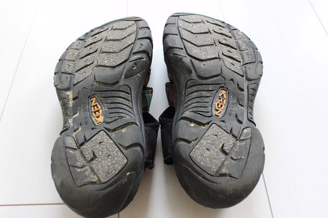 【サンダル】KEENニューポートH2の靴底