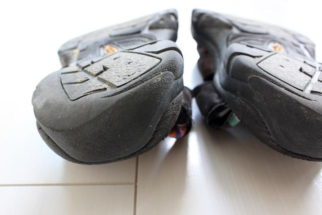 【サンダル】KEENニューポートH2の靴底かかと