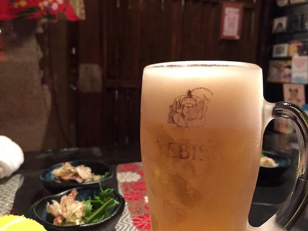 恋たこばのビール