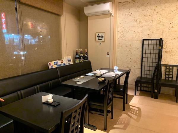 石垣島のお寿司屋・優雅亭・盛山の店内