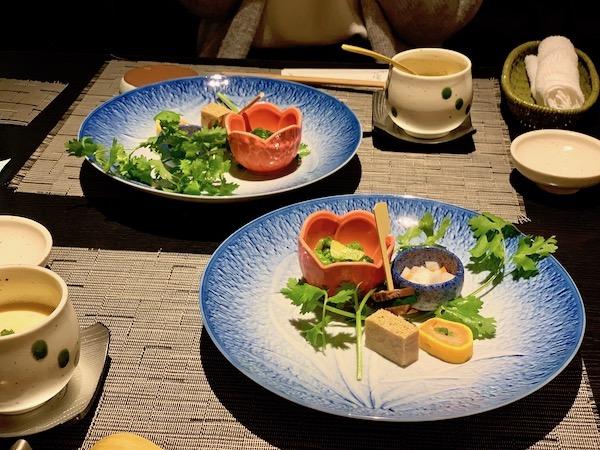 石垣島のお寿司屋・優雅亭・盛山の前菜