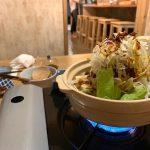 石垣島の居酒屋「酒晴」の担々湯豆腐