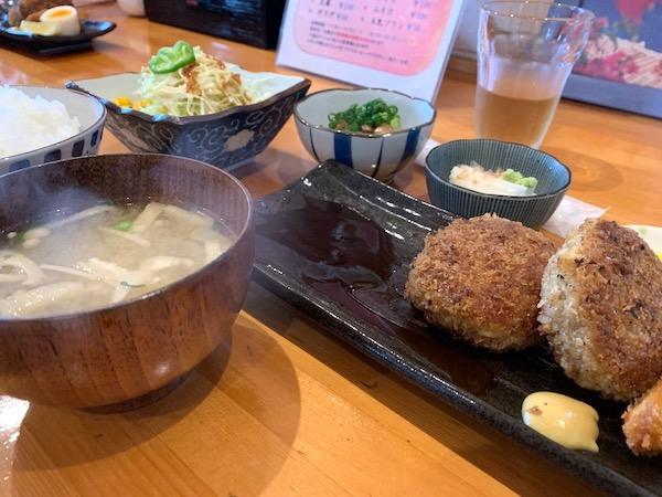 石垣島あじわい定食ナツユキのメンチカツランチ