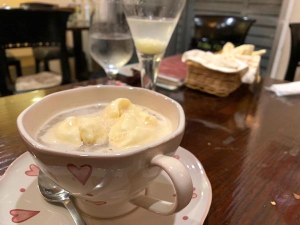 石垣島のスペイン料理「ハイビスキャット」白玉ぜんざい