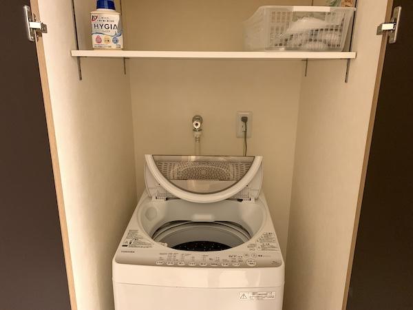 沖縄県宜野湾のホテル「レインボーテラス」の洗濯機