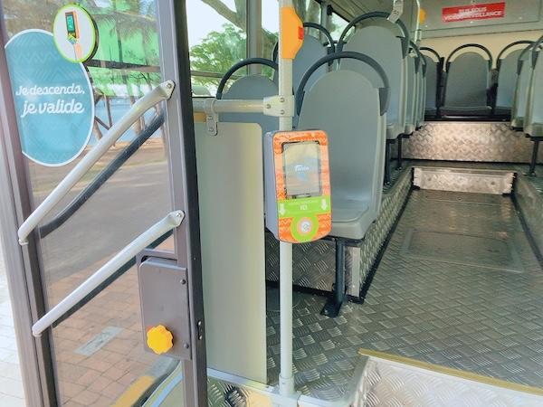 ニューカレドニアのバスのタッチIDです。