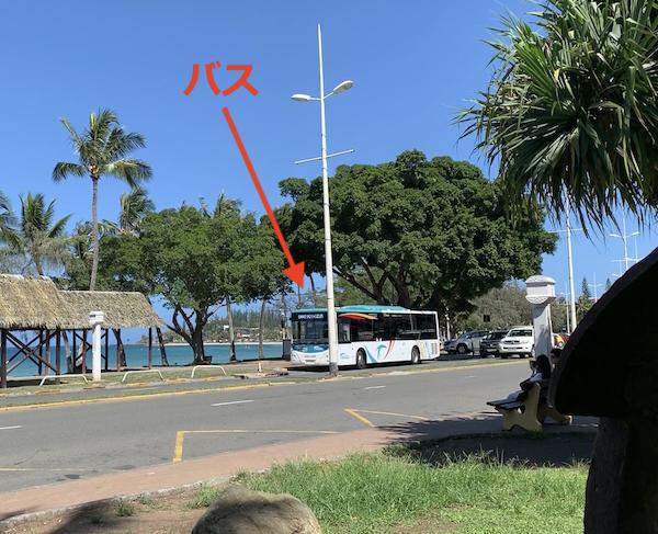 ニューカレドニアのバスです。
