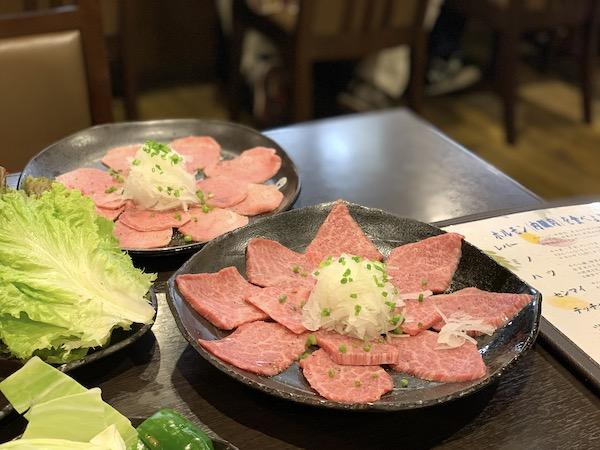 石垣島の焼肉「やまもと」の焼きしゃぶ