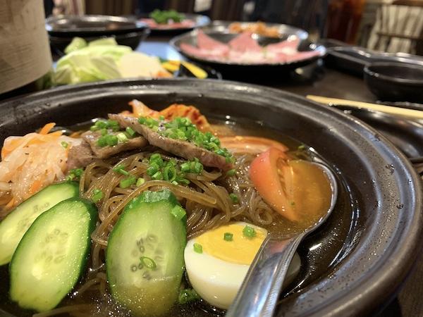 石垣島の焼肉「やまもと」のととり冷麺